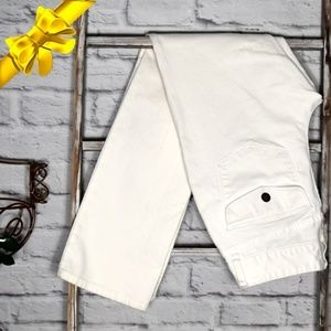 LRL White Denim Stretch Jeans Sz 6 *k8f06p01h11z0